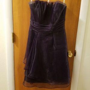 Plum organza dress